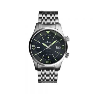Commodore Soldier Green watch on Steel strap