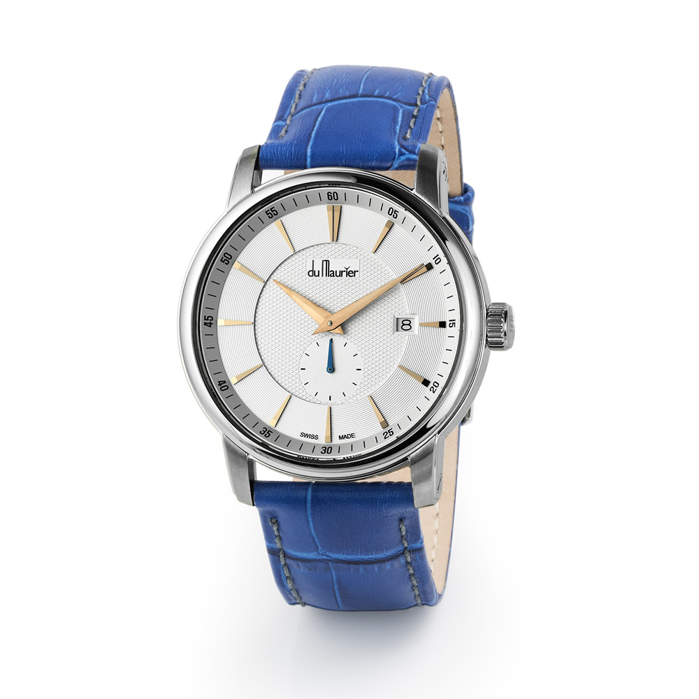 Maxim White Dial Blue Strap Out Of Stock Du Maurier