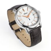 Maxim White Face watch with Brown Leather Strap