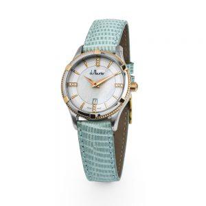 rebecca-pale blue diamonds rose gold ladies watch