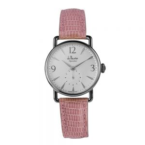DSS-SLVD-LPK-Daphne Signature Ladies watch silver dial light pink strap