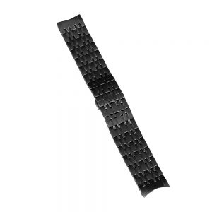 commodore mens watch black steel strap