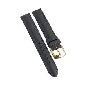 Daphne Signature black brushed leather suede strap
