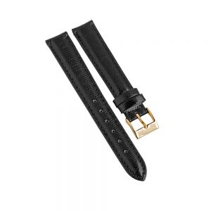 Daphne Signature black lizard strap