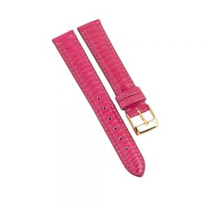 daphne lizard strap in hot pink