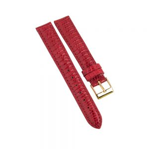 Daphne Signature red lizard strap