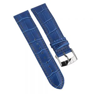 Maxim mens watch blue leather strap