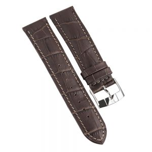 maxim brown leather mens watch strap-web